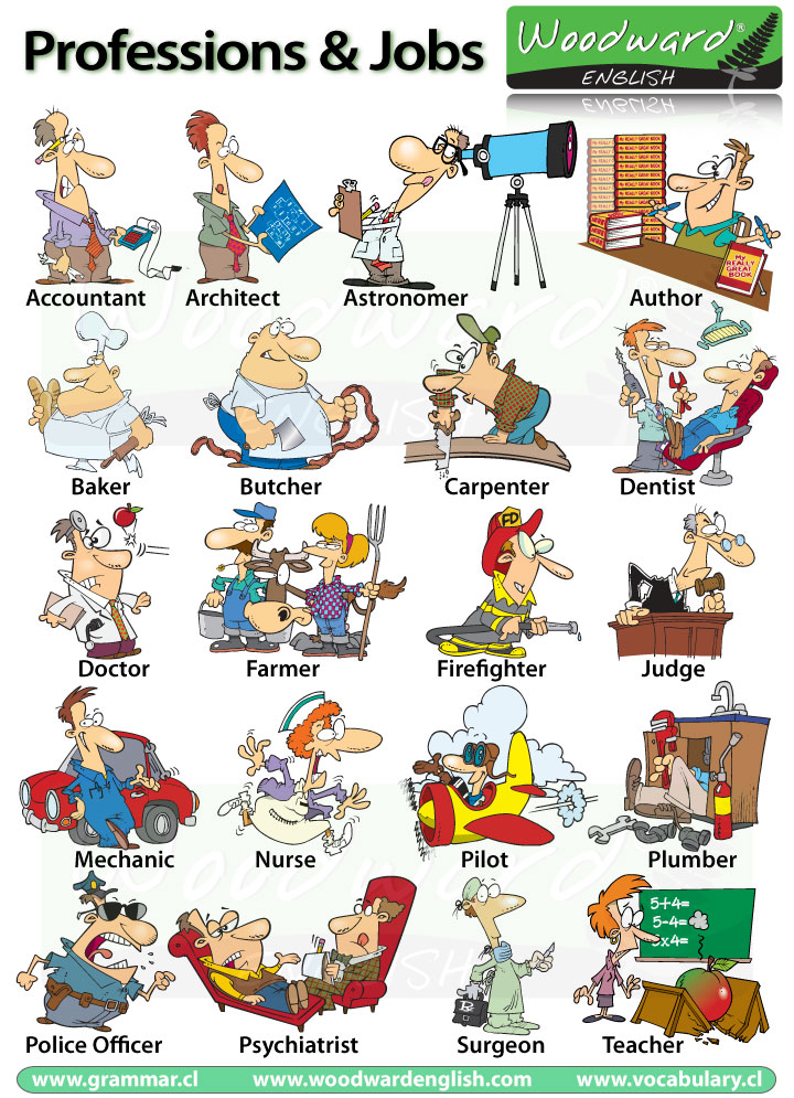 Professions Occupations Jobs English Vocabulary ... Career Choice Clipart